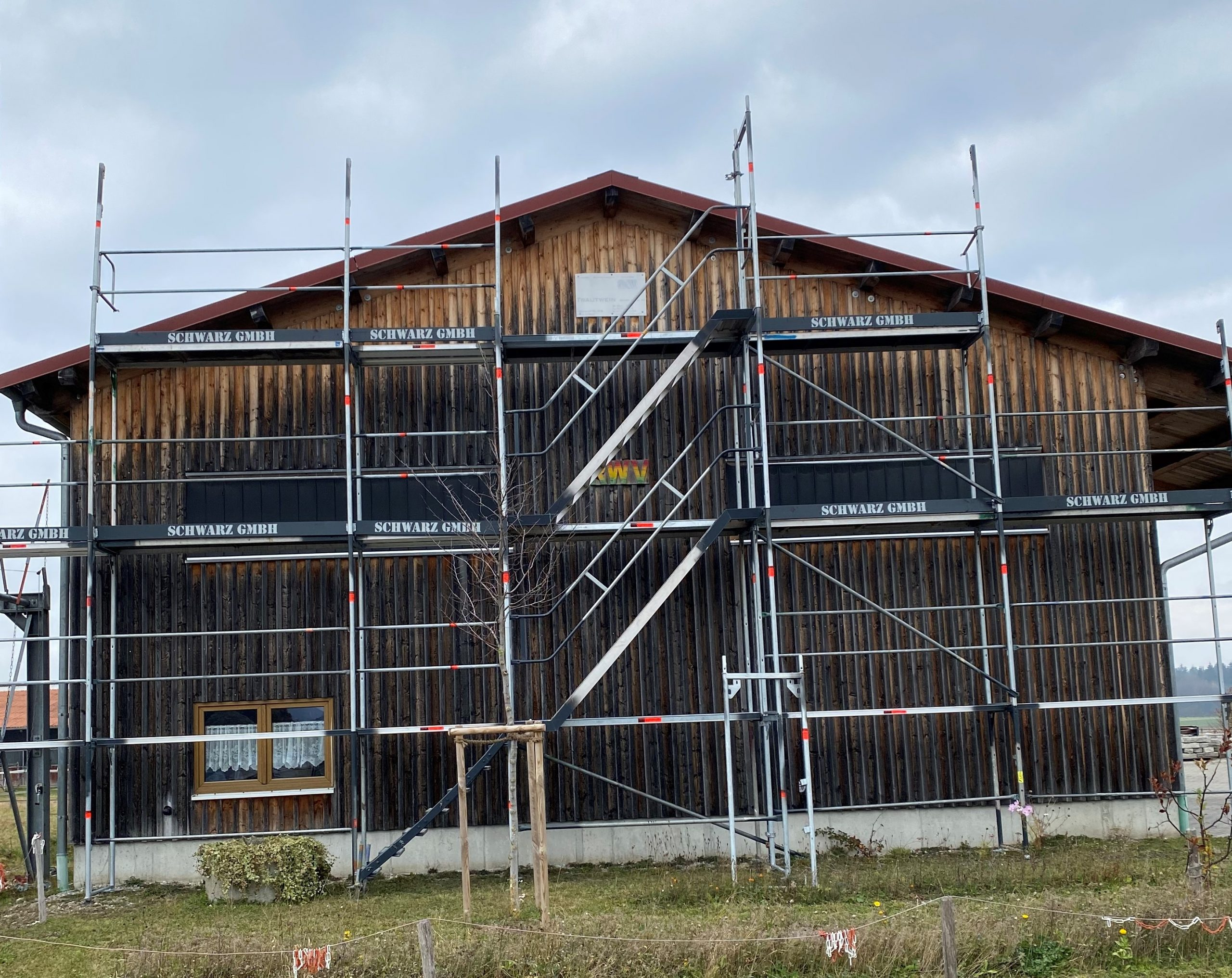 Gerüstbau Halle Treppenturm