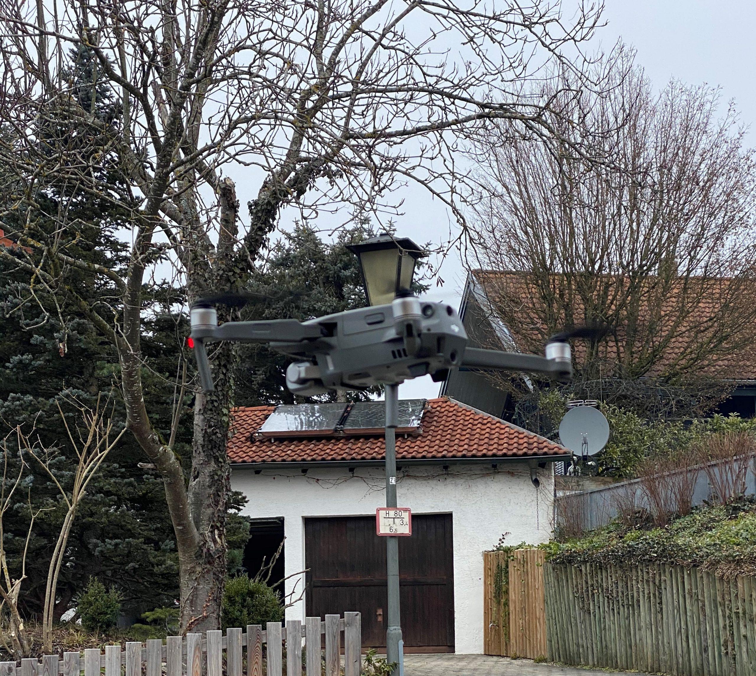 Drohne Schaden Reparatur Dach